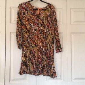 Tops - Sheer multicolored blouse